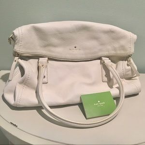 Kate Spade White Cobble Hill Large Leslie Satchel